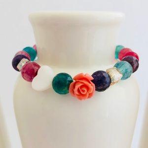 AGATE | Flower Beaded Bracelet